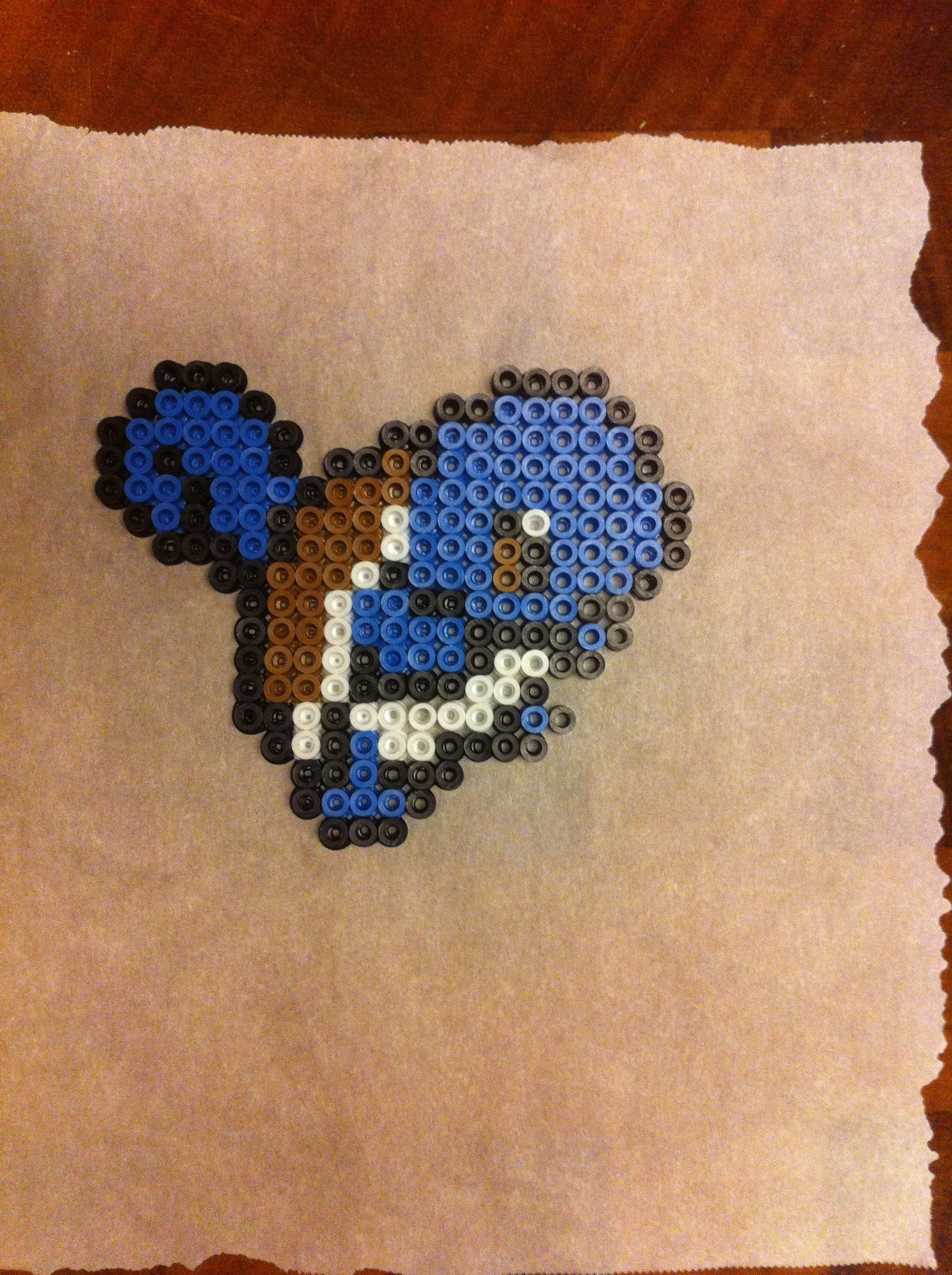 Squirtle perler beads